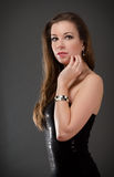 Beautiful woman in evening dress Royalty Free Stock Images