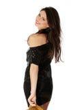 Beautiful woman in evening dress Stock Photos