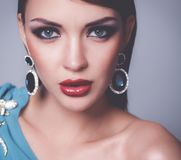 Beautiful woman with evening make-up Royalty Free Stock Photography