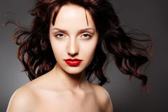 Beautiful woman with evening make-up Royalty Free Stock Photos