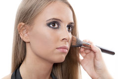 Beautiful woman with evening make-up Stock Images