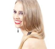 Beautiful woman with evening make-up Stock Photos