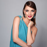 Beautiful woman with evening make-up Royalty Free Stock Photo