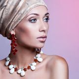 Beautiful woman with evening make-up Stock Photo