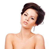 Beautiful woman with evening make-up. Jewelry and Beauty Stock Photography