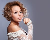 Beautiful woman with evening make-up. Royalty Free Stock Photos