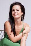 Beautiful woman with evening make-up. Jewelry and Beauty. Royalty Free Stock Photos