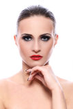 Beautiful woman with evening makeup Royalty Free Stock Photos