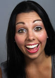 Beautiful Woman with Excited Facial Expression Stock Photography