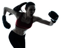 Beautiful woman exercising boxe Royalty Free Stock Photo