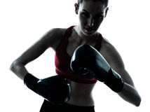 Beautiful woman exercising boxe Stock Photography