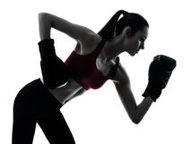 Beautiful woman exercising boxe Stock Image