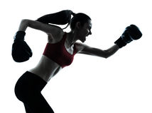 Beautiful woman exercising boxe Royalty Free Stock Photos