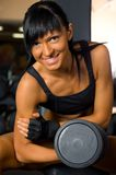 Beautiful woman exercising at the gym Stock Images