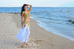 Beautiful woman in exotic dress Royalty Free Stock Photos