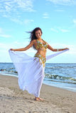Beautiful woman in exotic dress Royalty Free Stock Photography