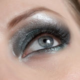 Beautiful Woman Eye. Make up look up Stock Photo
