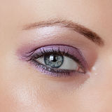 Beautiful Woman Eye. Beautiful woman look up with make up Royalty Free Stock Photography