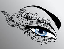 Beautiful woman eye. Beautiful blue woman eye - make-up Stock Photography