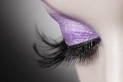 Beautiful woman eye stock images