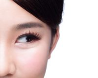 Beautiful woman eye look Stock Photos