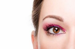 Beautiful woman eye with make-up Royalty Free Stock Photos