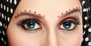Beautiful woman eye with makeup Stock Photo