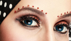 Beautiful woman eye with makeup Stock Image