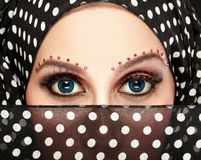 Beautiful woman eye with makeup Royalty Free Stock Photos