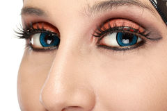 Beautiful woman eye with makeup Royalty Free Stock Images