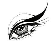 Beautiful woman eye. Vector illustration Stock Photo
