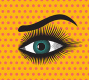 Beautiful woman eye. Vector illustration of the Beautiful woman eye Stock Photos