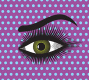 Beautiful woman eye. Vector illustration of the Beautiful woman eye Royalty Free Stock Photos