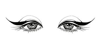 Beautiful woman eyes Royalty Free Stock Image
