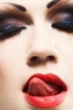 Beautiful woman face Stock Photos