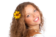 Beautiful woman face Stock Photos