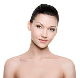 Beautiful woman face with clean skin Royalty Free Stock Photos
