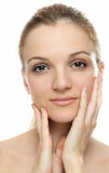 Beautiful Woman Face clean skin Stock Image