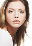Beautiful woman face with clean skin Stock Images