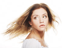 Beautiful woman face with clean skin Royalty Free Stock Photography