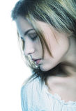 Beautiful woman face with clean skin Royalty Free Stock Image