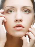 Beautiful woman face with clean skin Royalty Free Stock Photo