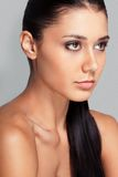Beautiful woman face with clear skin Stock Images