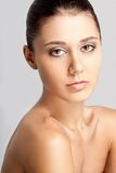 Beautiful woman face with clear skin Stock Image