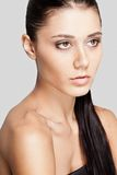 Beautiful woman face with clear skin Stock Photography