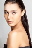 Beautiful woman face with clear skin Royalty Free Stock Photo