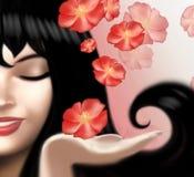 Beautiful woman face close up Stock Images