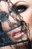 Beautiful woman face close-up Stock Image
