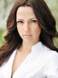 Beautiful woman face - close up - outdoors Royalty Free Stock Photo