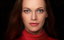 Beautiful woman face close up Royalty Free Stock Photo